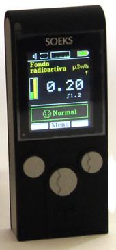 Contador Geiger portátil y muy fácil de usar