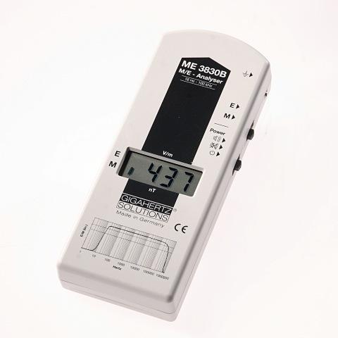 Medidor de campo electrico y electromagnetico