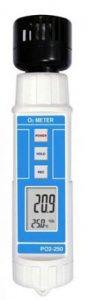 Medidor de oxigeno y temperatura ambiental