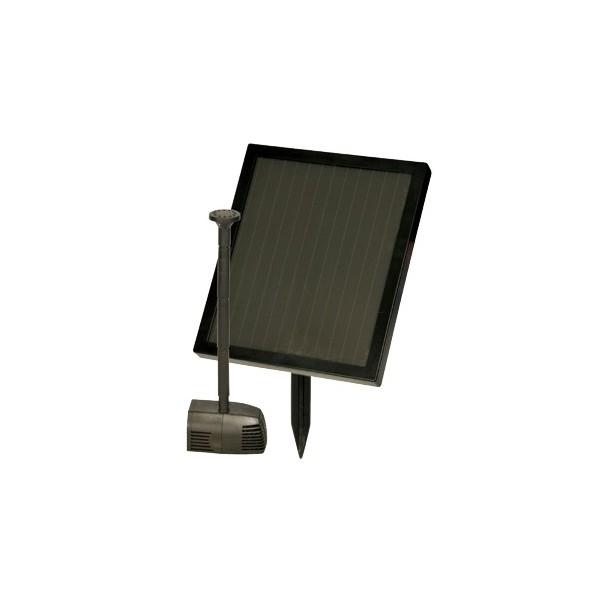 Fuente de agua solar con panel y batería
