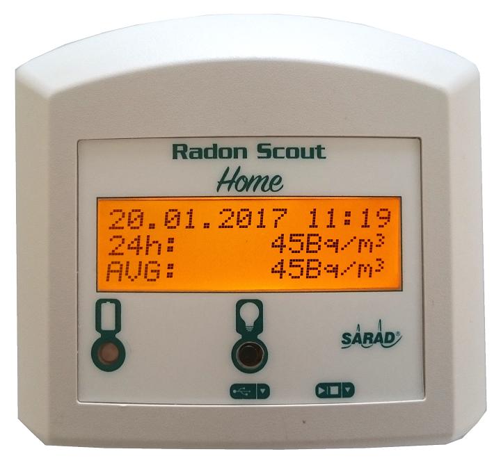 Monitor de gas Radón