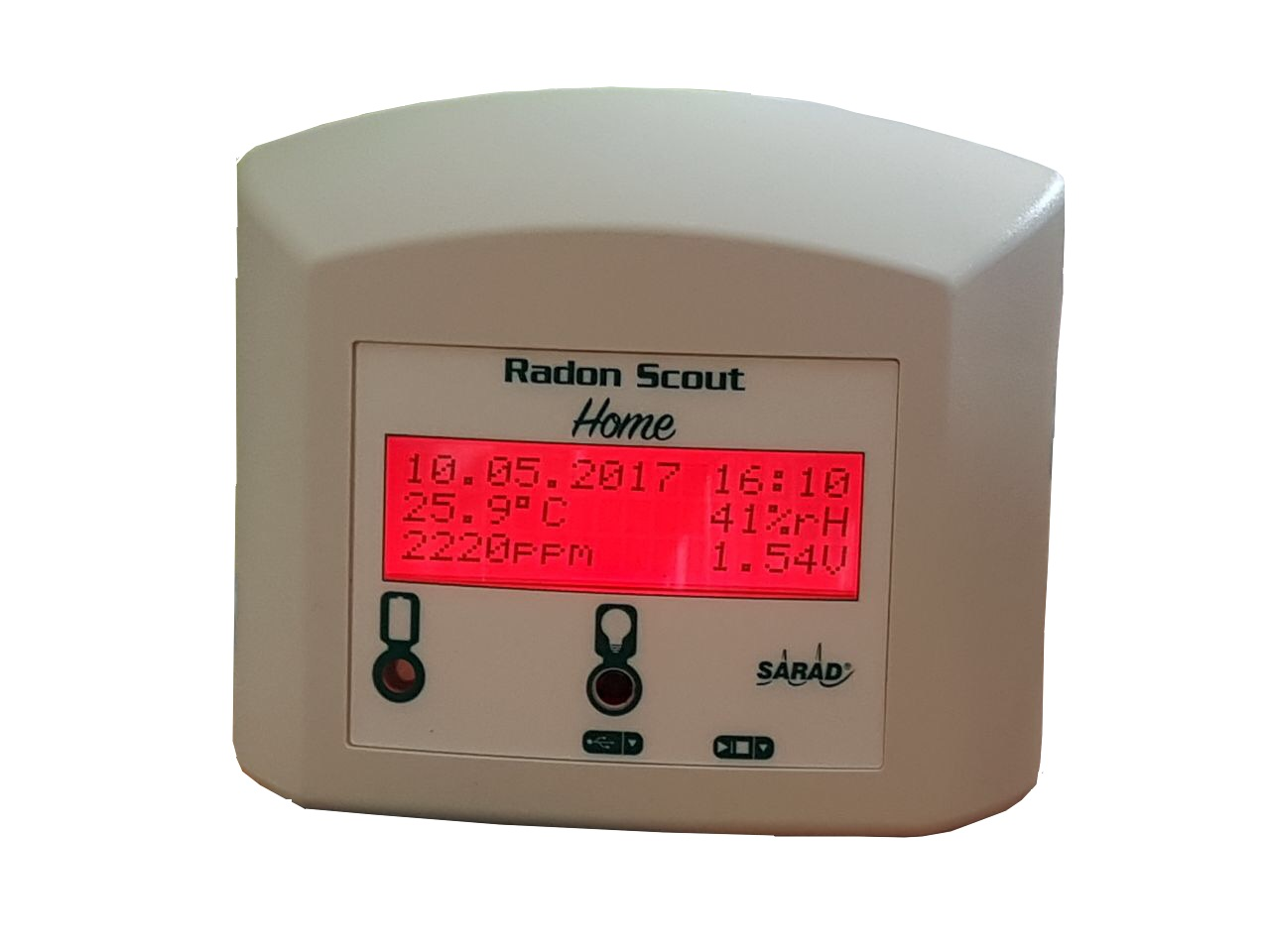 Monitor gas radon y CO2
