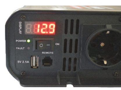 Detalle inversor Tirio 2000 W 12 V