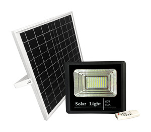 FOCO LED 60W CON PANEL SOLAR