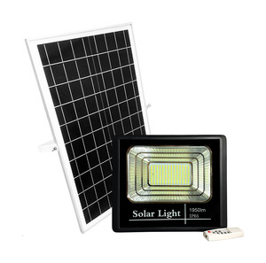 FOCO LED 100W CON PANEL SOLAR