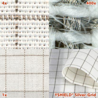 Tela derivación a tierra Silver Grid detalle