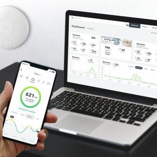 Medidor de gas Radon, CO2, TVOC, Temperatura, humedad y presión del aire.